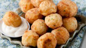 Ορεκτικό για μπουφε: Λουκουμάδες Πατάτες