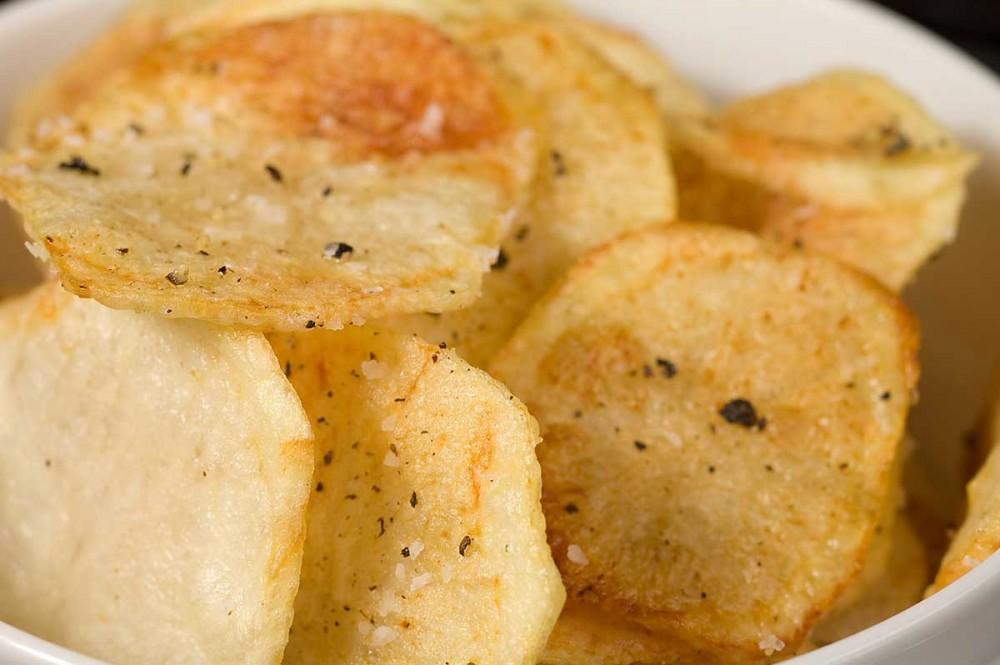 Σνακ για παιδια: Πατατάκια στο φούρνο!