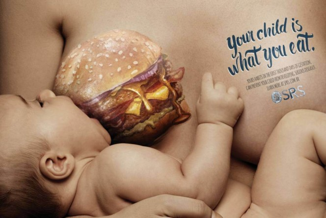 Εκστρατεία προειδοποιεί τις μέλλουσες μητέρες: το παιδί σας είναι ότι τρώτε!