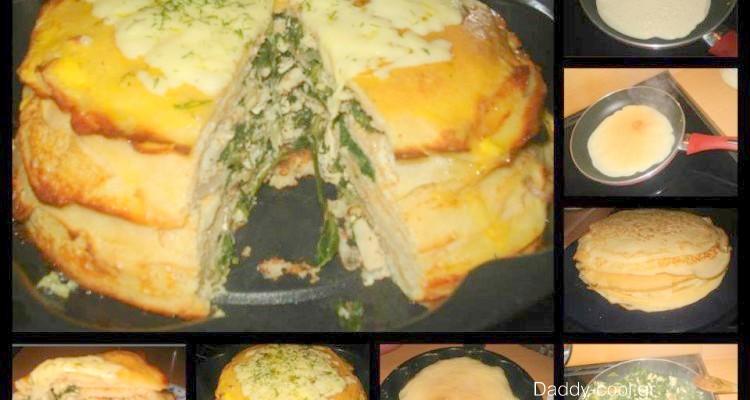 Αλμυρή τούρτα με σπανάκι και κοτόπουλο!