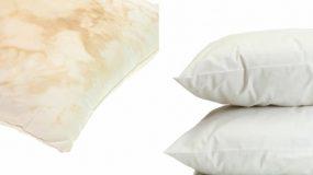 Πως να κάνετε  κάτασπρα τα κιτρινισμένα μαξιλάρια