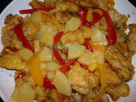 Συνταγή για γλυκόξινο κοτόπουλο