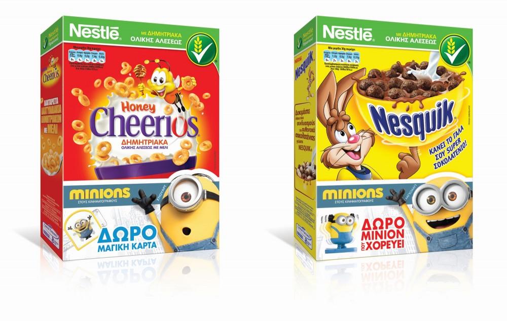 Τα MINIONS έκαναν φαντασμαγορική πρεμιέρα βουτηγμένα στα παιδικά δημητριακά της Nestlé !