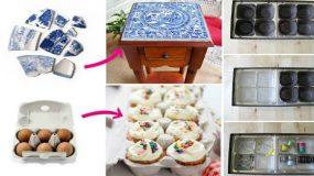 28 υπέροχες ιδέες ανακύκλωσης για άχρηστα αντικείμενα!