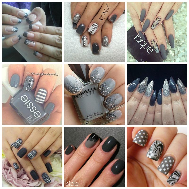 Grey nails 2