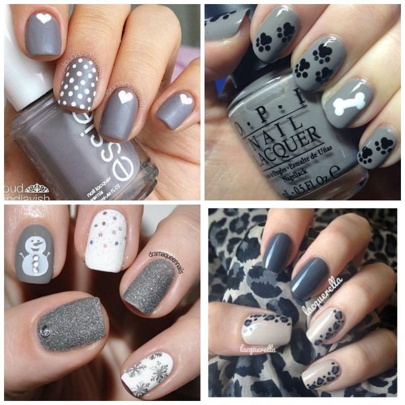 Grey nails 4
