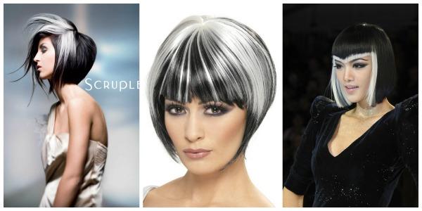 Ασπρόμαυρα μαλλιά!Ένα ιδιαίτερο στυλ των δύο άκρων στο μαλλί σας! 1