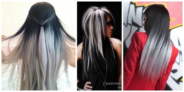 Ασπρόμαυρα μαλλιά!Ένα ιδιαίτερο στυλ των δύο άκρων στο μαλλί σας! 2