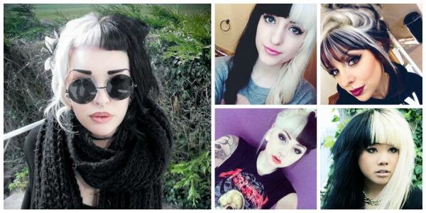 Ασπρόμαυρα μαλλιά!Ένα ιδιαίτερο στυλ των δύο άκρων στο μαλλί σας! 5