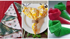 Ιδέες για να φτιάξετε σχέδια στις πετσέτες σας στο Χριστουγεννιάτικο τραπέζι(Video & Photo)
