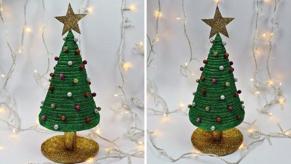 Χριστουγεννιάτικα στολίδια από εφημερίδα : Χριστουγεννιάτικο δέντρο