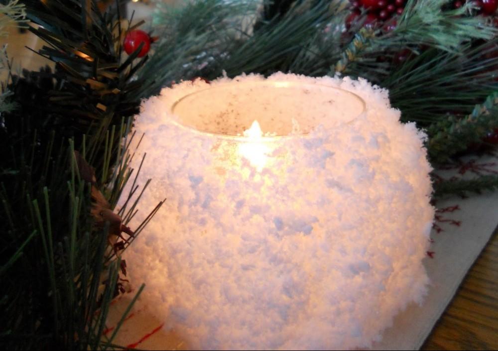 Φτιάξε χιονισμένα κηροπήγια
