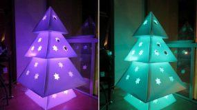 DIY:Φτιάξε φωτιζόμενο Χριστουγεννιάτικο δέντρο από χαρτόνι