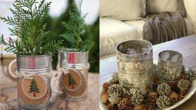 Φτιάξε υπέροχες Χριστουγεννιάτικες κατασκευές απο κονσερβοκούτια!