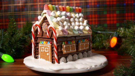 Χριστουγεννιάτικα σοκολατένια σπιτάκια από Kit kat!