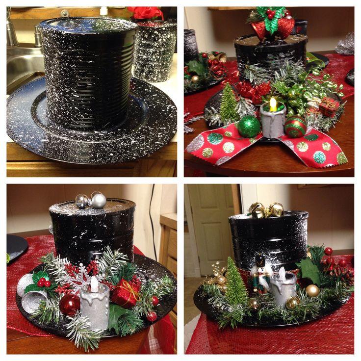 Χριστουγεννιάτικες κατασκευές από κονσερβοκούτια