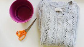 Κόβει ένα πουλόβερ και φτιάχνει υπέροχη Χριστουγεννιάτικη Κατασκευη