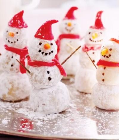 cute snowman christmas snowball cookies 2013 christmas snowman food ideas christmas cookies-f00613