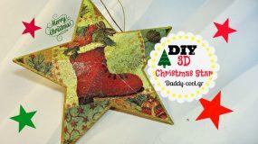DIY:Φτιάξε τρισδιάστατα στολίδια αστέρια για το Χριστουγεννιάτικο δέντροΒΙΝΤΕΟ