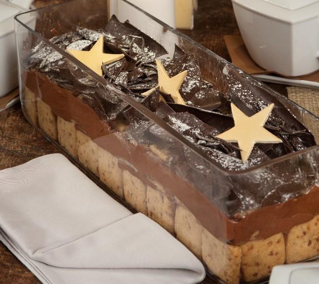 Χριστουγεννιάτικη μους σοκολάτας με μπισκότα από το Στέλιο Παρλιαρο