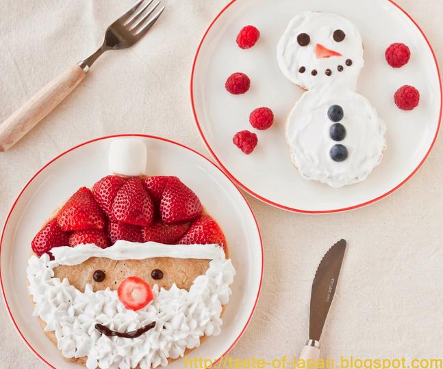 santa-and-snowmen-pancakes