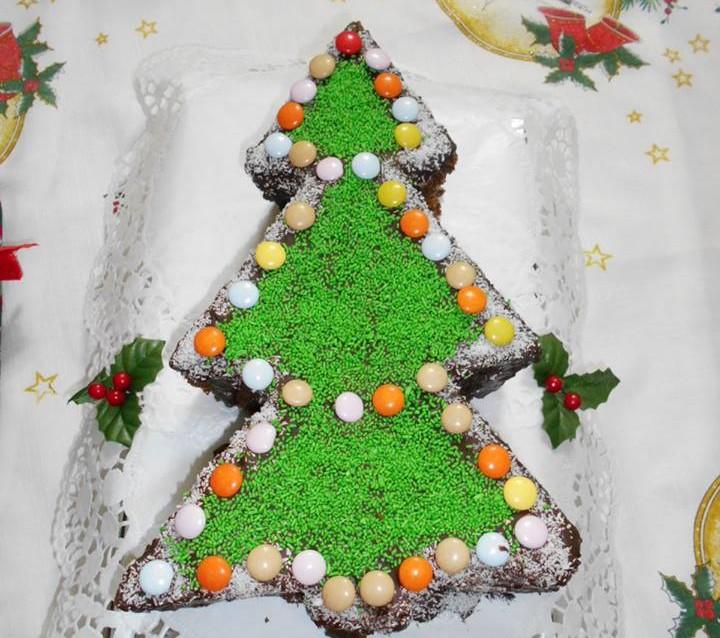Κεικ Χριστουγεννιάτικο δέντρο