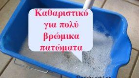 Δείτε πως να φτιάξετε υγρό καθαρισμού για βρώμικα πατώματα