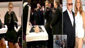 ΣΕΛΙΝ ΝΤΙΟΝ: Λύγισε στην κηδεία του πολυαγαπημένου της συζύγου, Ρενέ Ανζελίλ (ΦΩΤΟ)