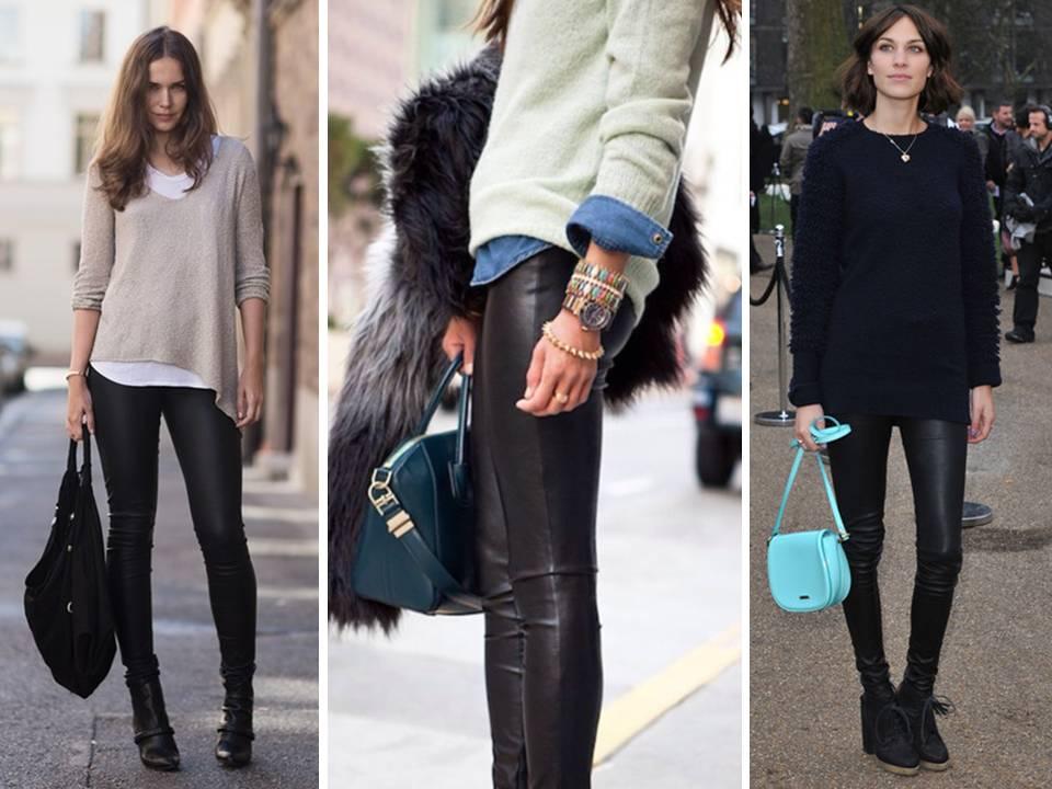 32 Ιδέες για να φορέσεις το δερμάτινο παντελόνι