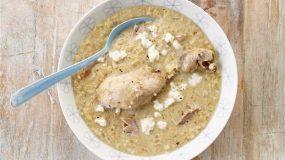 Σούπα µε γλυκό τραχανά και κοτόπουλο
