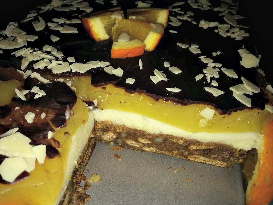 Πορτοκαλένια τούρτα απο τη sofia kara