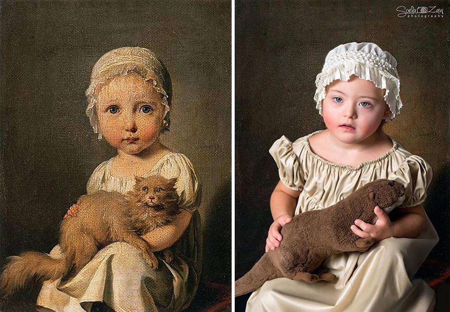 Παιδιά με σύνδρομο Down μεταμορφώνονται σε διάσημα έργα τέχνης