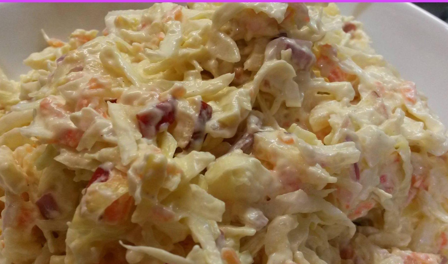 Σαλάτα λάχανο coleslaw  από τη Ρούλα Γιαννιώτη