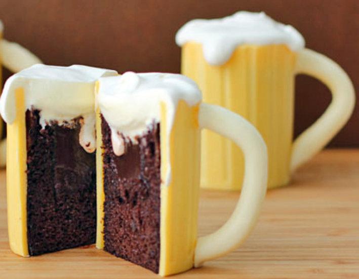 Cupcakes Μπύρα με Baileys-Μην τα πιείτε.Δαγκώστε!