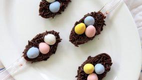 Πασχαλινές σοκολατένιες μπουκιές φωλίτσες