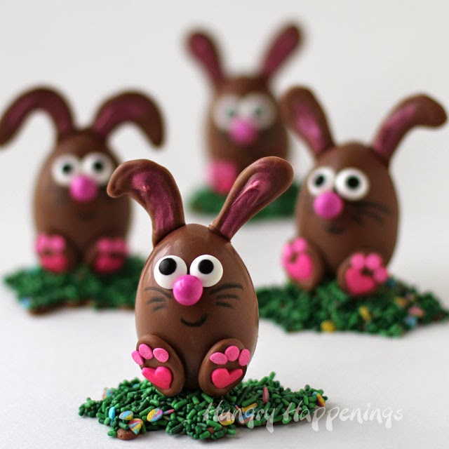 Πασχαλινά σοκολατένια αυγά- κουνελάκια bueno!