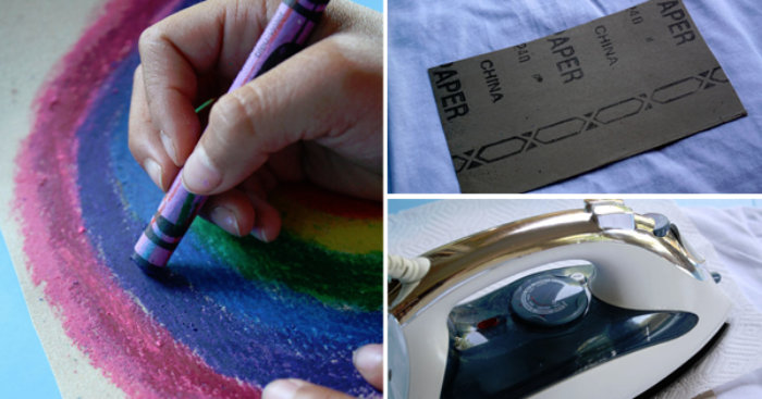 Έβαλε τα παιδιά να ζωγραφίσουν σε ένα γυαλόχαρτο και στη συνέχεια, το σιδέρωσε. Το αποτέλεσμα? Η καλύτερη κατασκευή EVER!