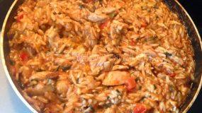 Κριθαρότο με κοτόπουλο