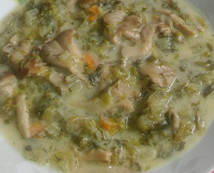 Μαγειρίτσα για χορτοφάγους.(Μανιτάρια φρικασε)