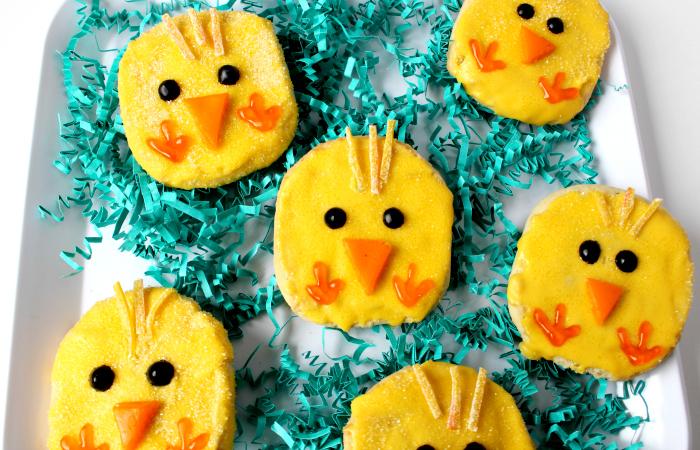 Πασχαλινά μπισκότα κοτοπουλάκια