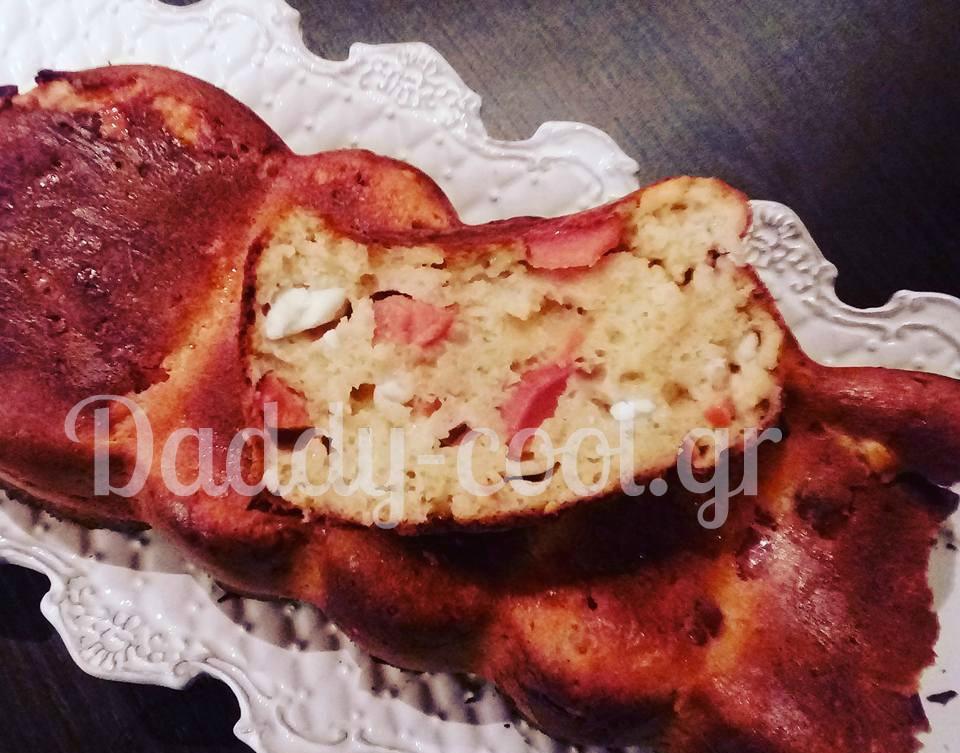 Εύκολο αλμυρό κέικ χωρίς γιαούρτι
