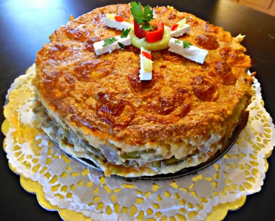 αλμυρη τούρτα με φασολάκια