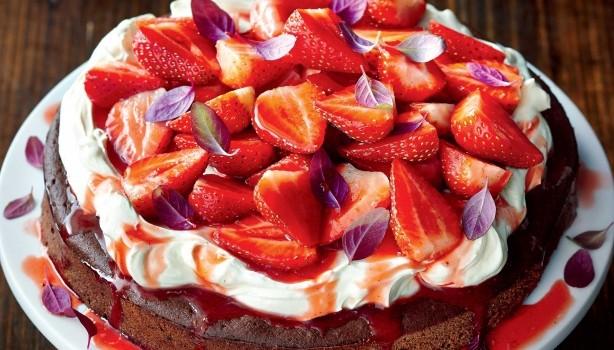 Κέικ Nutella με φράουλες