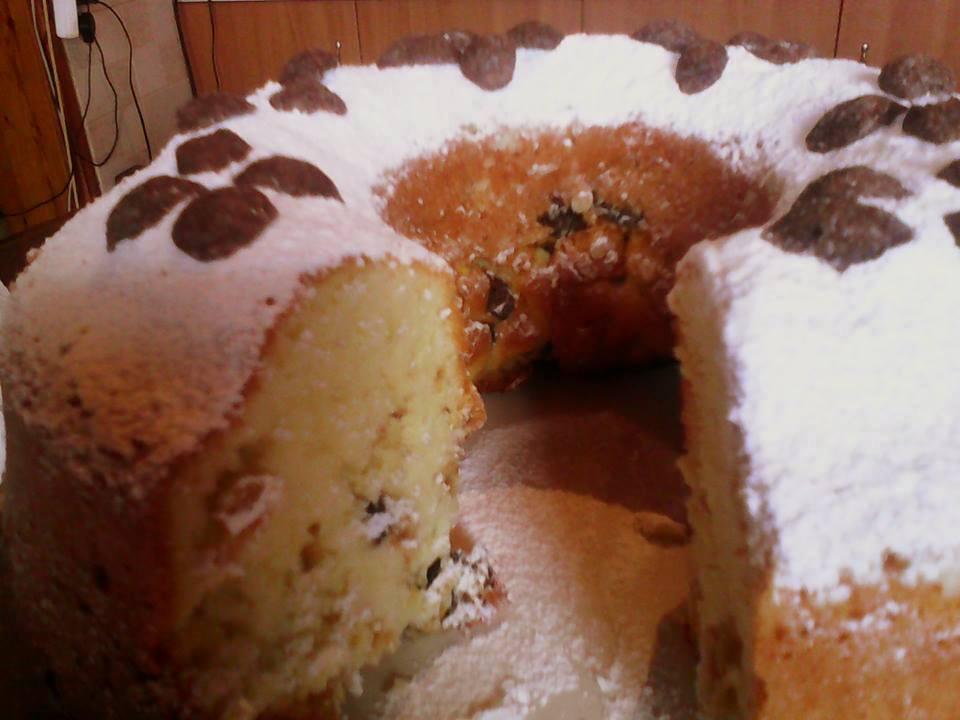 Κέικ με στρώσεις corn flakes της Ρέας
