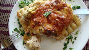 Φιλέτο κοτόπουλο με φιλαδέλφια και πίτα