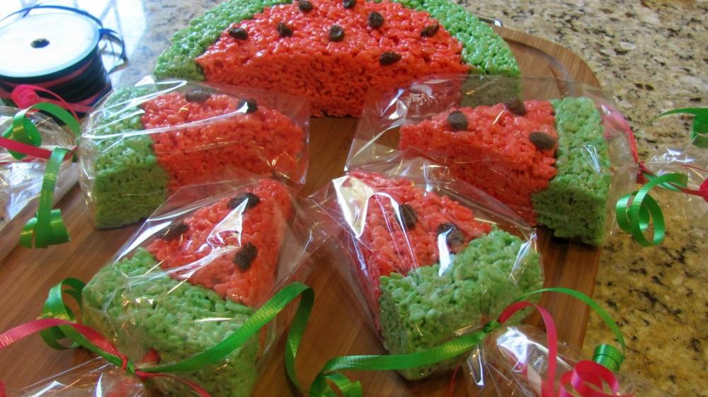 Ιδέα για κέρασμά:Ριζογκοφρέτες σε σχήμα καρπούζι