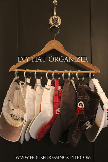 DIY-hat-organizer