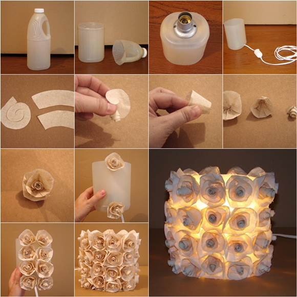 Plastic-Bottle-Rose-Lamp