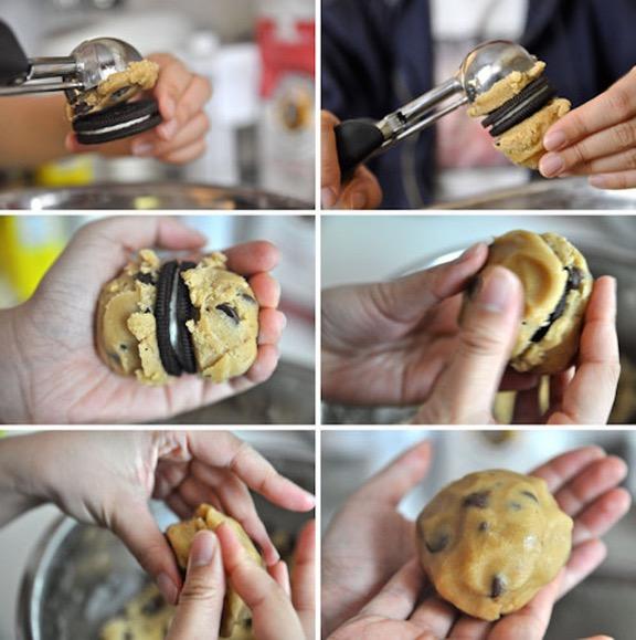 Μπισκότα γεμιστά με OREO και κομμάτια σοκολάτας!
