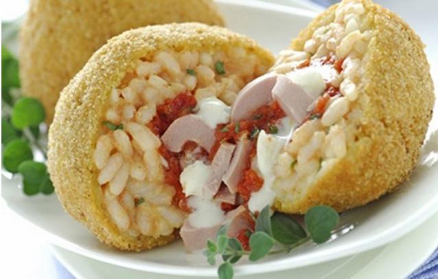 Κροκέτες ρυζιού με τόνο και μοτσαρέλα